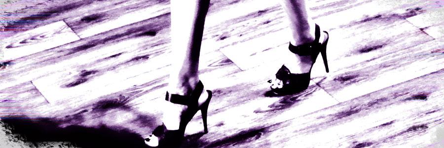 PostADay Wordpress Photo Challenge Woman in Heels on Wooden Catwalk