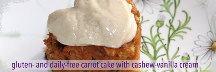 Gluten Dairy Free Vegan Mini Carrot Cake with Vegan Cashew Vanilla Cream
