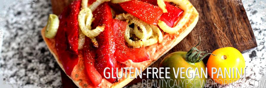 Gluten-free vegan Panini brown bag lunch idea