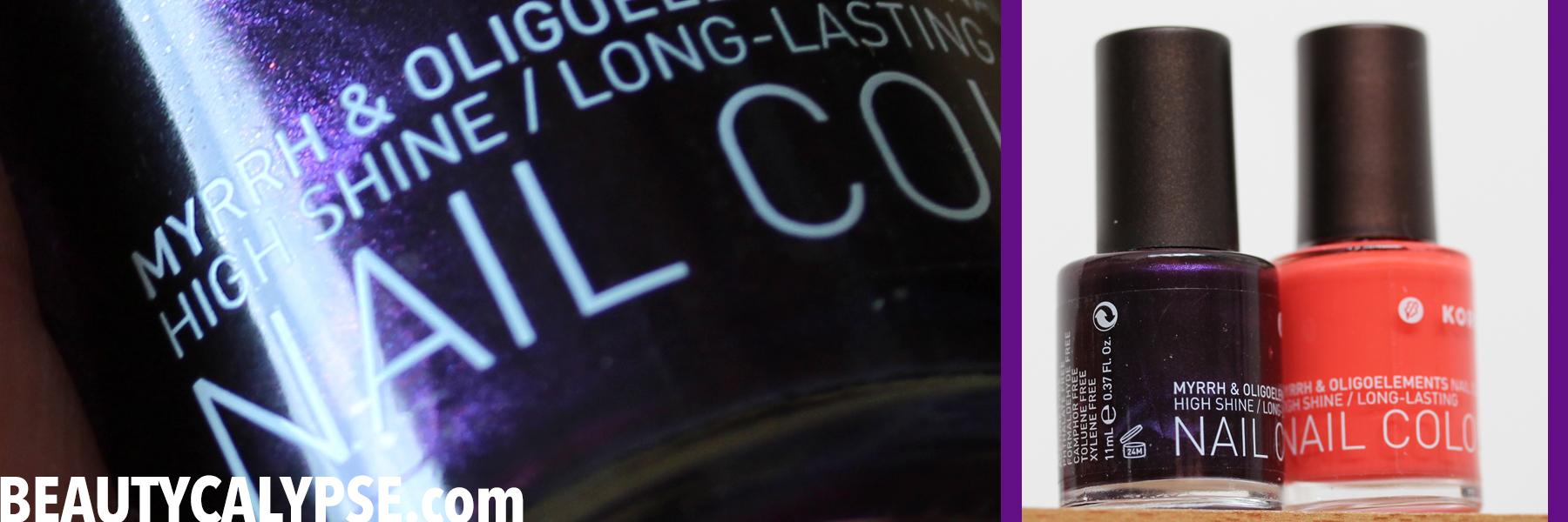 A closer look: an 11-big-free nail polish by Korres | Range Review ...