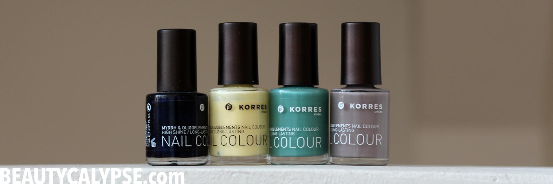 A closer look: an 11-big-free nail polish by Korres   Range Review ...