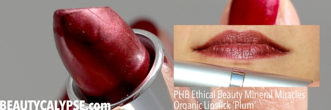 PHB-EthicalBeauty-MineralMiracles-Organic-Lipstick-Plum-review