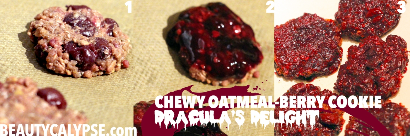 chewy-oatmeal-cookies-vegan-berry-glazed