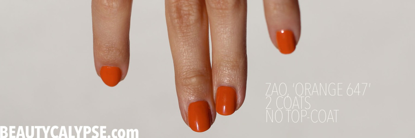zao-orange-nail-polish-swatch