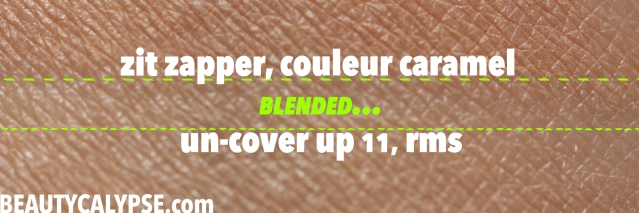 couleur-caramel-zit-zapper-review-swatch-with-rms-blended