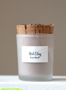 Red Clay Face Mask, White Witch