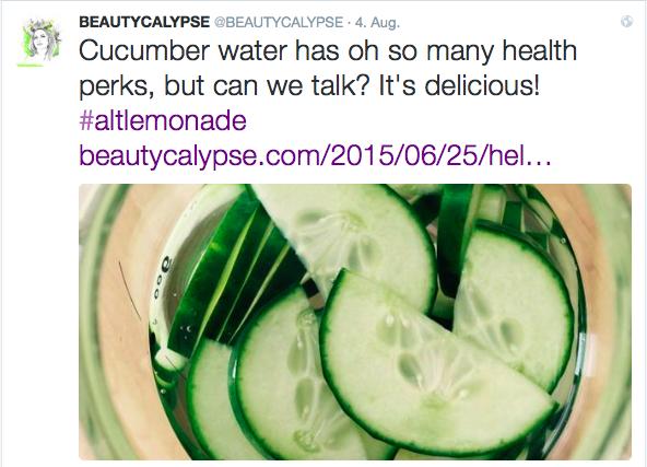 aBEAUTYCALYPSEtweet-cucumberwater