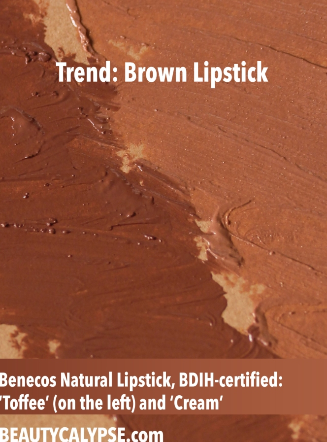 Benecos-lipstick-swatch-Toffee-Cream-closeup