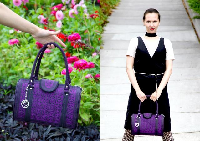 22/4 Hommes Femmes dress, Tiffany beads, Banda Bags