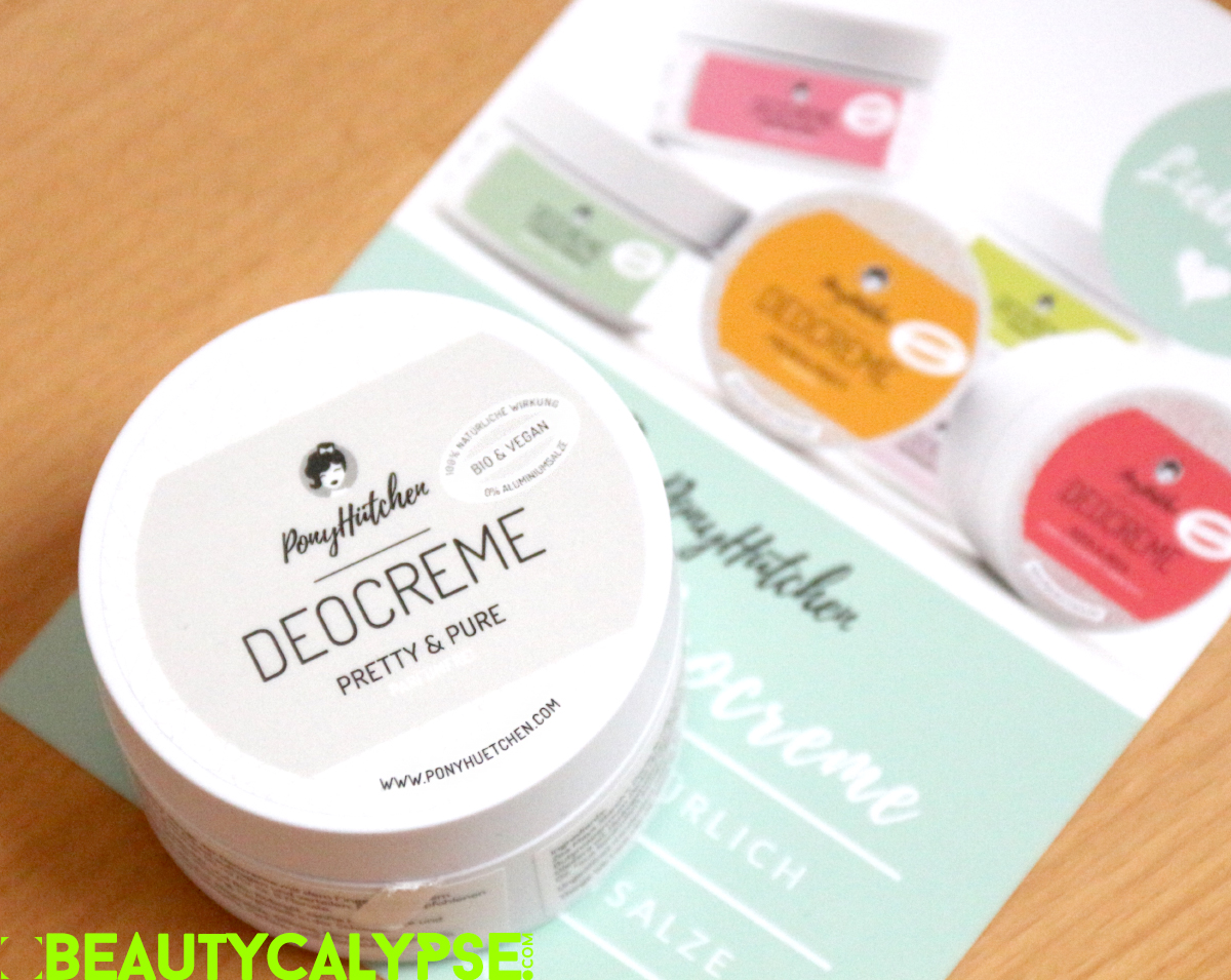 Ponyhütchen Pretty&Pure vegan and natural deodorant, reformulated
