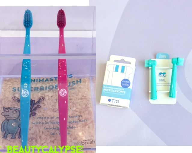 Biobrush Berlin brand new toothbrush line for kids; Tio brand new brush heads for electric toothbrushes