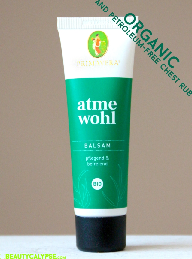Organic cough rub alternative – atme wohl, Primavera