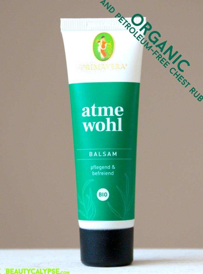 Organic cough rub alternative – atme wohl, Primavera