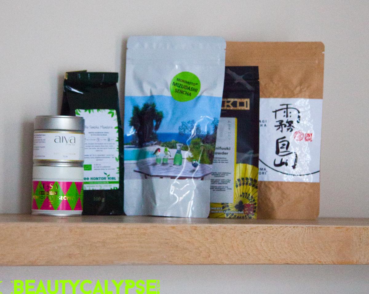 Aiya, Kissa, Morimoto and Keiko Benifuuki Teas, bought at Tee Kontor Kiel