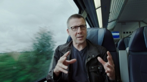Still from Zeit für Utopien: Niko Paech, post-growth economist who never boarded a plane