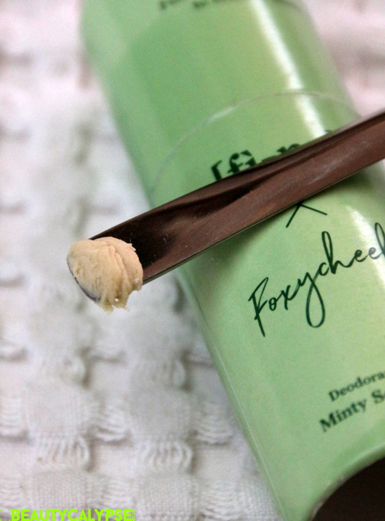 Limited Edition Stick FINE x Foxycheeks Minty Something, swatch, review
