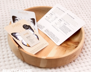 Farfalla recipe cards and samples