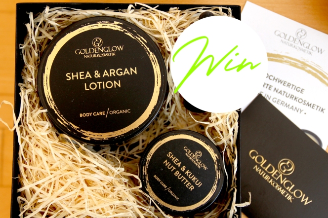 We've teamed up with Goldenglow to give away one SHEA & ARGAN LOTION + one SHEA & KUKUI NUT BUTTERto one lucky BEAUTYCALYPSE reader