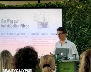 Malvin Richard speaking at Farfalla road show Biosphäre Potsdam