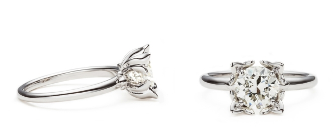 Ethical Engagement Ring Lily by Vieri High Jewellery