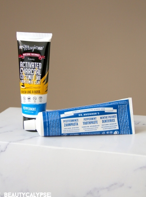 My Magic Mud, Dr. Bronner's – organic toothpaste test