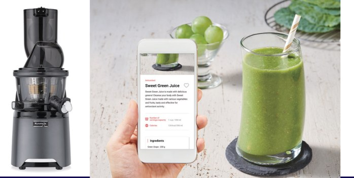 Kuvings® HealthFriend SlowJuicer and app, available via Keimling