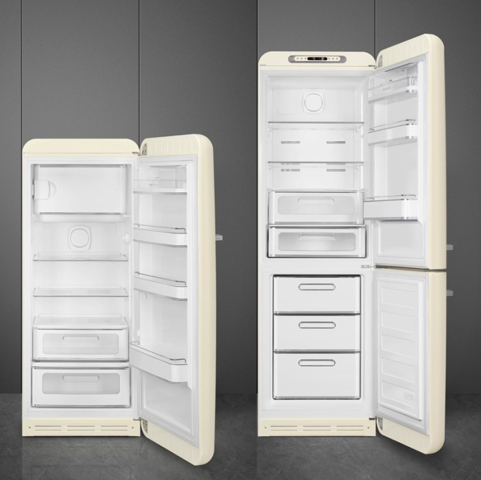 A peek: revamped A+++ SMEGFAB28 and FAB32 with more storage volume and intelligent tech. Images: SMEG.
