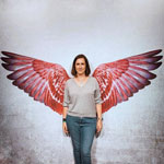 Kathrin with wings. @ echtKATHRIN
