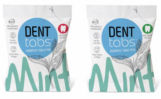 Denttabs: NEW fully biodegradable packaging
