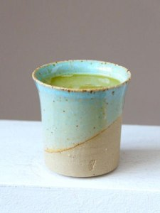 Matcha tea for a better sugar metabolism. Cup purchased from Tee Kontor Kiel.