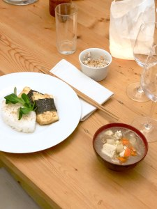 A three-course vegan menu: Zen Cuisine. Seasonal produce and three different tofu textures.