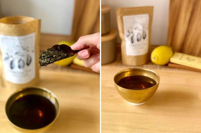 Etza guayusa, making the tea