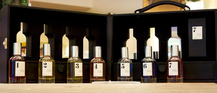 The rebranded 7 Collection by Pauline Rochas. Coffret at display at Parfumsalon Berlin. Photography by BEAUTYCALYPSE Studio.