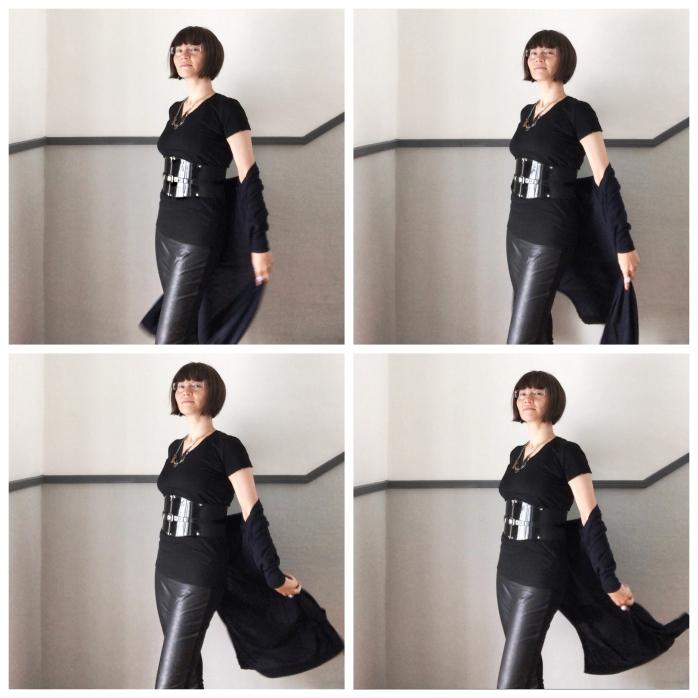 Ethical fashion based, elegant goth outfit