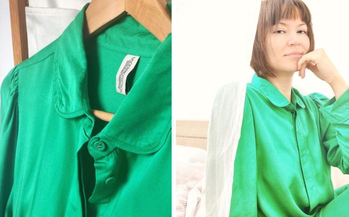 Underprotection — retro PJs in emerald green